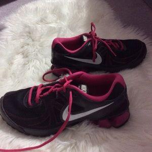 Nike pink & black sneakers